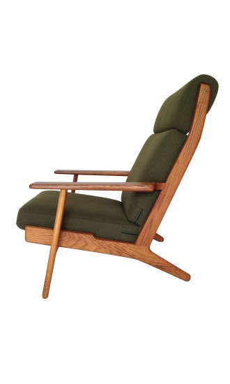 Original Danish 1950's Hans Wegner GE 290A Oak Armchair for Getama