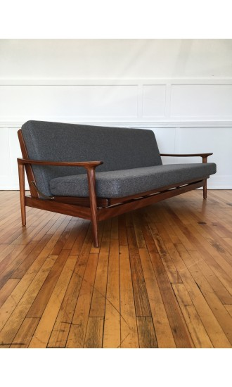 Danish Style 1960's British Mid Century Guy Rogers New Yorker Sofa Bed