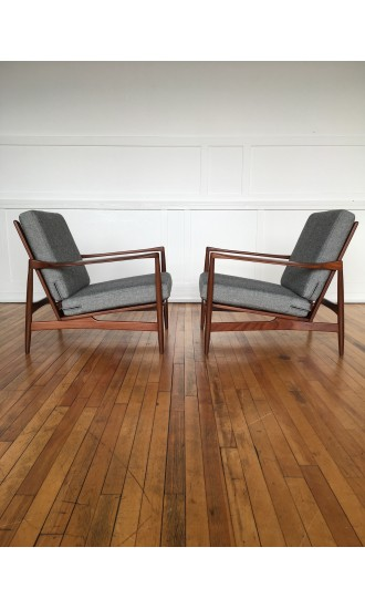 Pair of Ib Kofod-Larsen Easy Chairs Lounge Chairs