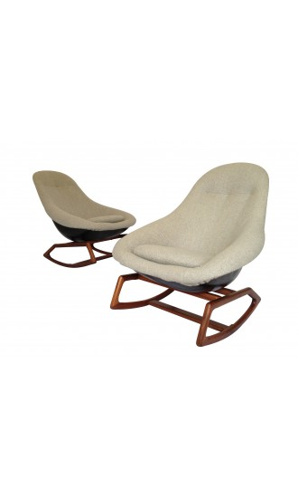 Pair of Gemini Lurashell rocking chair