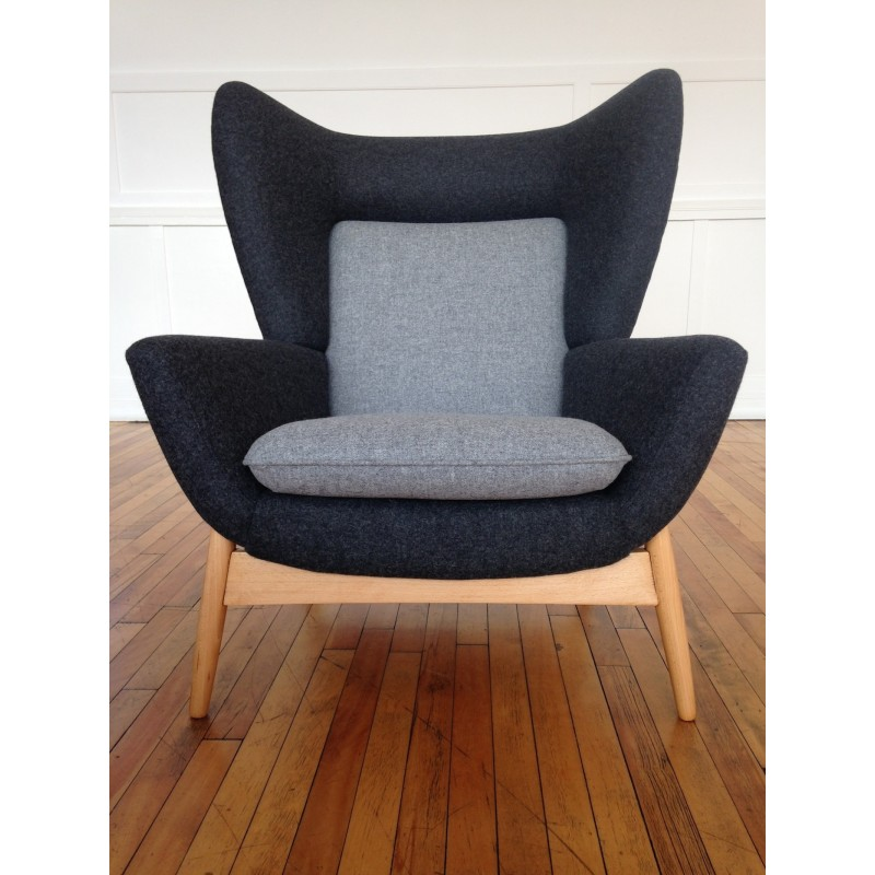 Vintage Midcentury Rare Parker Knoll Merrywood Wing Back
