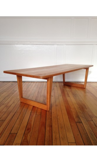 Rare Midcentury Danish Oak Coffee Table Model 5261 by Borge Mogensen for Fredericia Stolefabrik