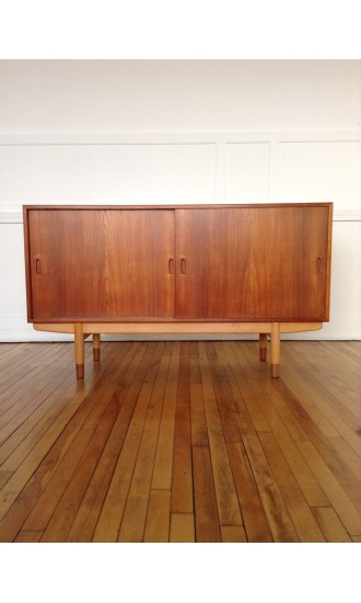 Borge Mogensen Teak and Beech Model 160 Sideboard for Soborg Mobler