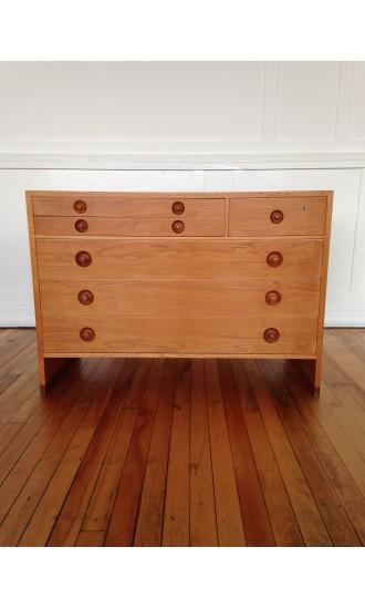 Midcentury Danish Oak Chest of Drawers / Dresser by Hans Wegner for Ry Mobler