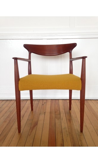 Mid-Century Danish Desk Chair Carver Occasional Armchair by Arne Hovmand-Olsen for Mogens Kold