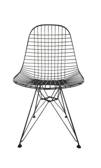 Iconic Set of 4 Original Ray and Charles Eames for Herman Miller DKR Wire Chairs