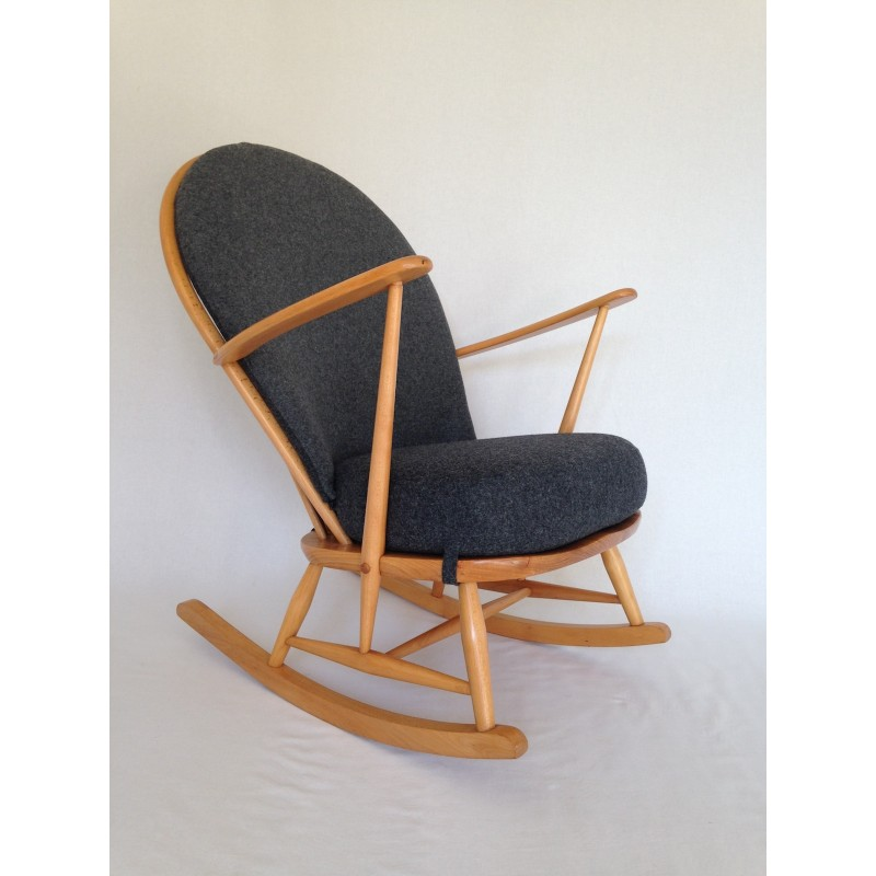 Ercol Rocking Chair 1960 S Fully Restored With New Cushions
