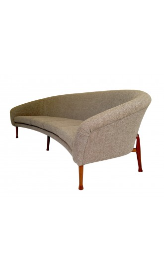 "1960's Danish Style ""Frisco Bay"" Four Seater Curved Sofa By Guy Rogers in Kvadrat Wool"