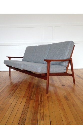 Midcentury Danish Style Guy Rogers New Yorker Sofa