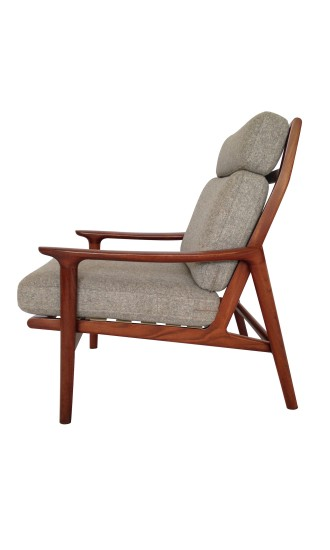 Danish Style 1960's Guy Rogers New Yorker High Back Armchair