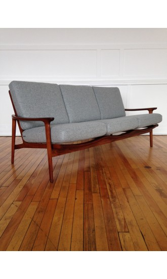 Midcentury British Guy Rogers New Yorker Sofa
