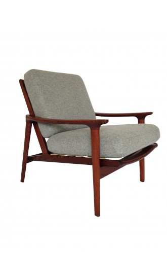 Danish Style 1960's Guy Rogers New Yorker Low Back Armchair