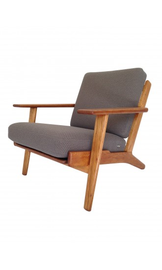 Original Danish 1950's Hans Wegner GE290 Oak Armchair for Getama