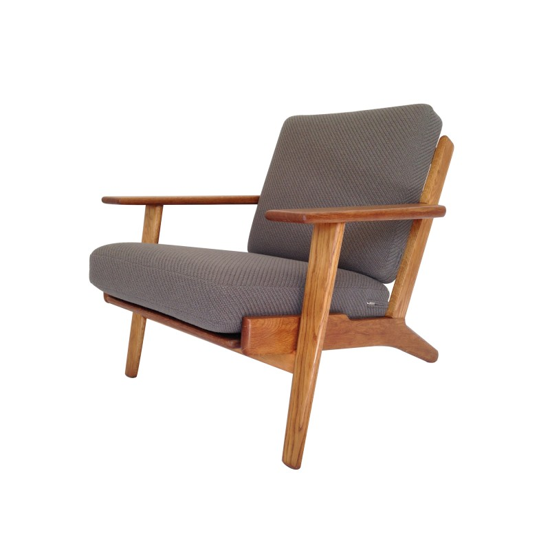 Original Danish 1950's Hans Wegner GE290 Oak Armchair for ...