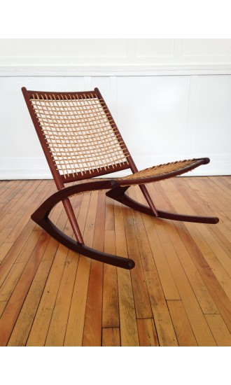 Iconic Mid-Century Norwegian Rocking Chair Designed by Fredrik Kayser for Vatne Mobler