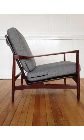 Midcentury Ib Kofod Larsen Lounge Chair Armchair for G Plan Danish range in Kvadrat Wool