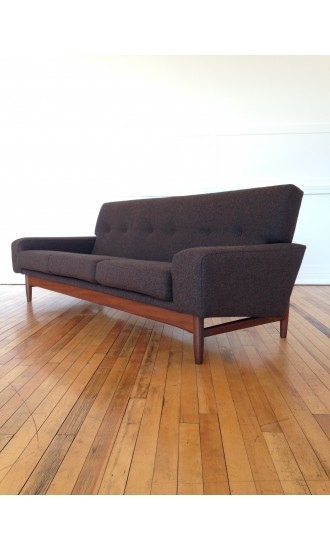 1960's Ib Kofod Larsen Teak Sofa for G Plan Danish Range in Kvadrat Wool