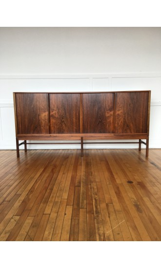 Danish Rosewood Sideboard / Cabinet / Bar by Kurt Ostervig for K.P. Mobler