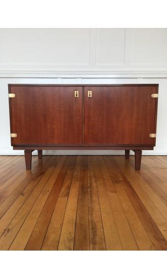 Midcentury Danish Teak Cabinet / Small Sideboard by Peter Lovig Nielsen