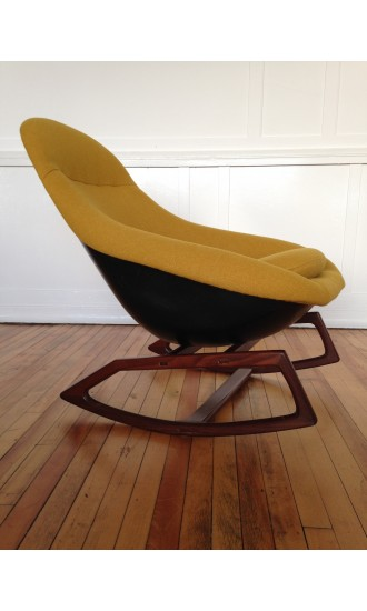 Rare Iconic Midcentury 1960's British Lurashell Gemini Rocking Chair