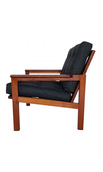 Midcentury Danish Teak Capella Armchair Illum Wikkelso - Pair Available