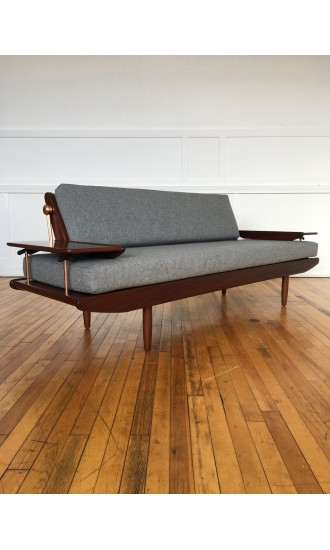 Midcentury British 1960's Danish Style sofa bed by Toothill in Svensson Wool