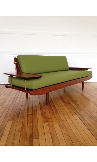 Danish Style 1960's Midcentury sofa bed by Toothill in Bute Wool
