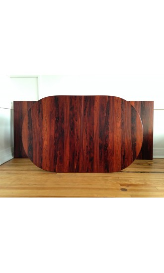 Midcentury Vintage Rosewood Extending Dining Table by Nils Jonsson for Troeds