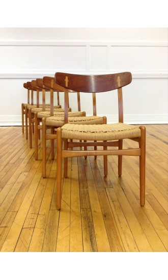 Set of Six (6) CH-23 Dining Chairs by Hans Wegner for Carl Hansen & Son