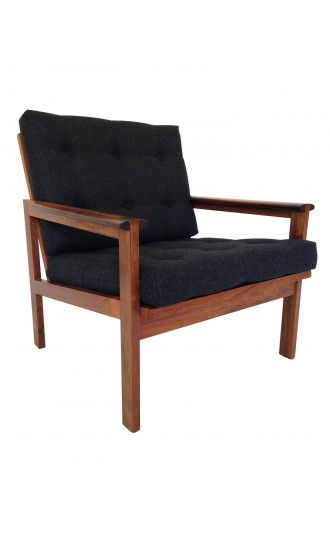 Danish Rosewood Capella Armchair Designed by Illum Wikkelso