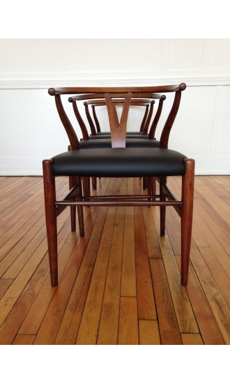 Original Mid Century Danish Hans Wegner Wishbone Dining Chairs